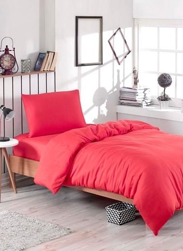 Eponj Home Paint Nevresim Takımı Tek Kişilik D.Boya  Kırmızı